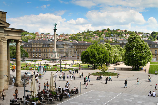 Stuttgart (Germany) Castle Square in the city center in spring Copyright Jens Goepfert