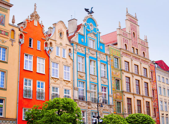 Colorful houses in Gdansk, Poland - Kite_rin