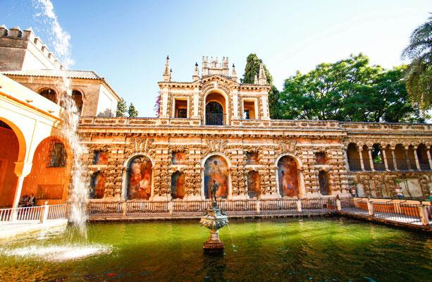 Seville - European Best Destinations - Alcazar Gardens in Sevilla Copyright Farbregas Hareluya
