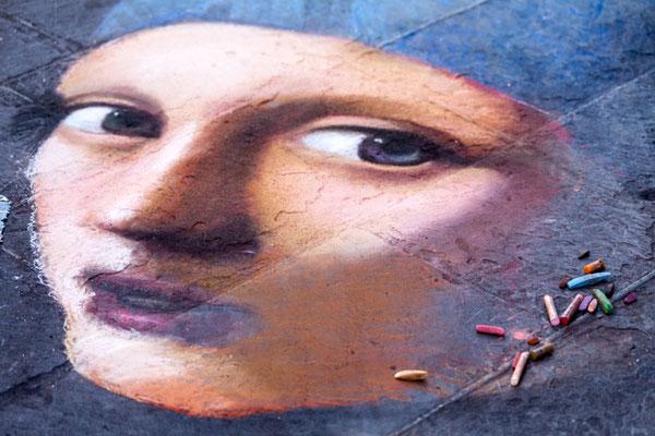 Florence street painting copyright Shutterstock Editorial Corina Daniela Obertas