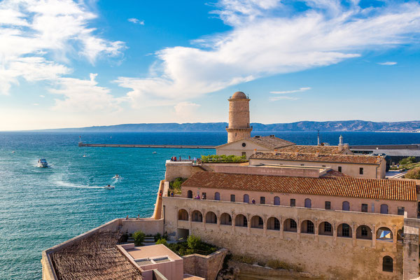 Fort Saint Jean in a summer day in Marseille, France by S-F