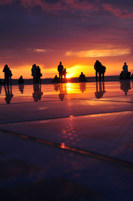 Greeting to the Sun, Zadar Sunset, Croatia - Copyright Emma Zhang