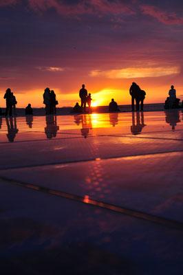Greeting to the Sun, Zadar Sunset, Croatia - Copyright Emma Zhang