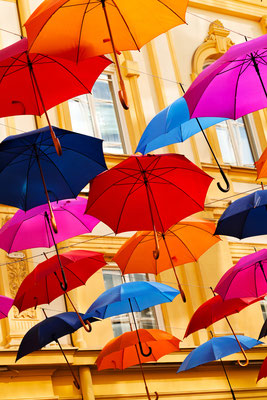 Novi Sad Umbrellas Copyright Branko Jovanovic