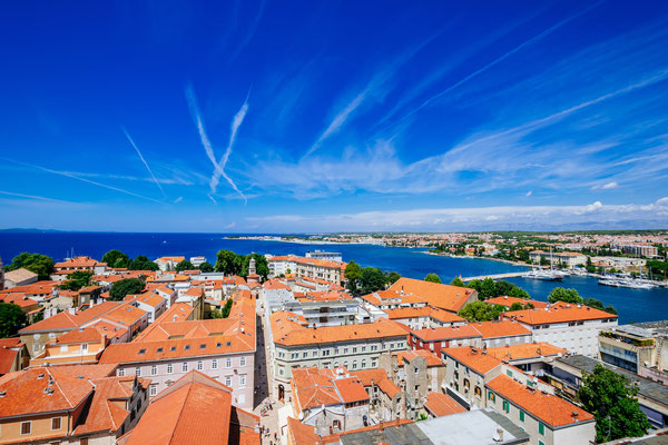 View from the top of the bell tower of the church of St. Anastasia in Zadar  - Copyright nomadFra