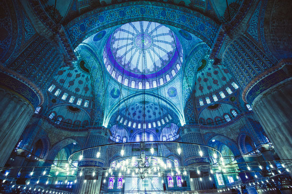 Interior of the Blue Mosque, Istanbul. Turkey - Copyright Yarygin