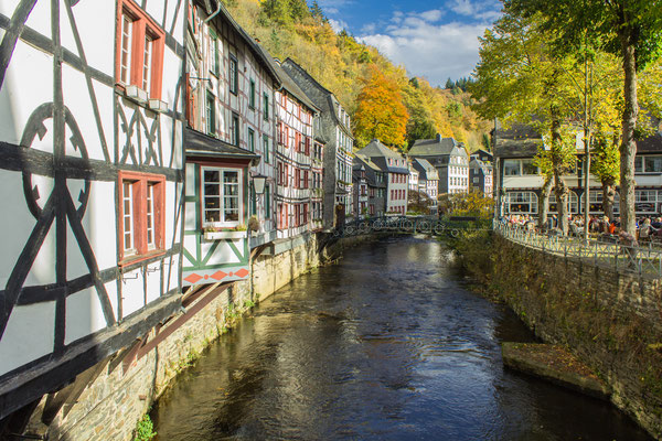 Monschau village near the city of Aachen, Germany by Georg Weber