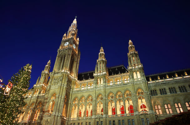 Vienna's City Hall at Christmas advent - By Zsolt Biczo