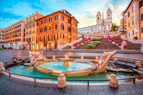 Rome Piazza de Spagna copyright Vladimir Sazonov