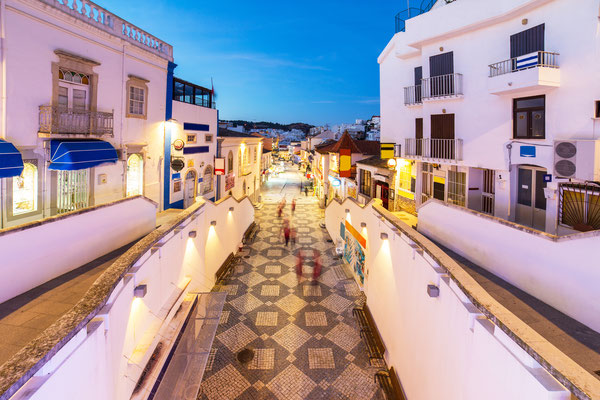 An evening view of Albufeira, Algarve region, Portugal by Marcin Krzyzak