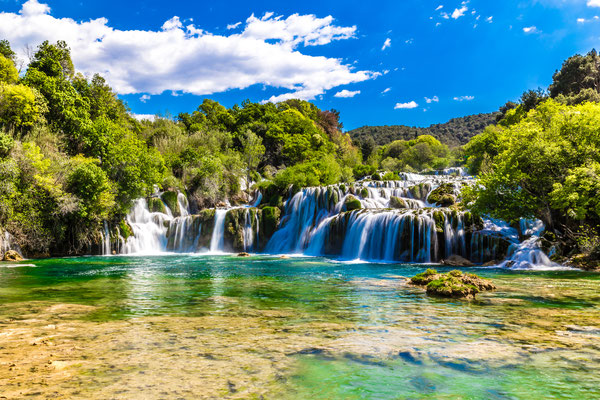 Beautiful Skradinski Buk Waterfall In Krka National Park - Dalmatia Croatia by ZM_Photo