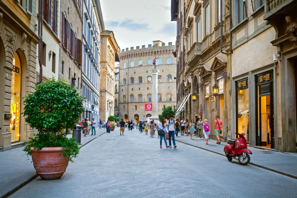 Florence streets copyright Shutterstock Editorial Pani Garmyder