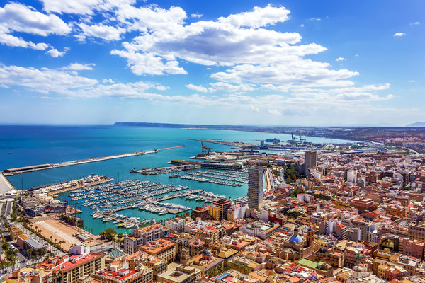 Panoramic view of Alicante in Spain by Dragomir Nikolov