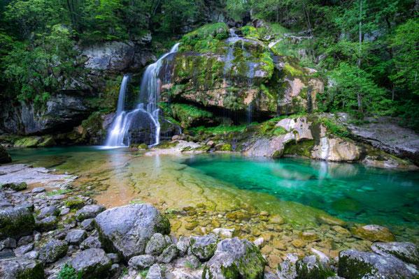 Virje Waterfalls Soca River copyright Foto Matevz Lavric