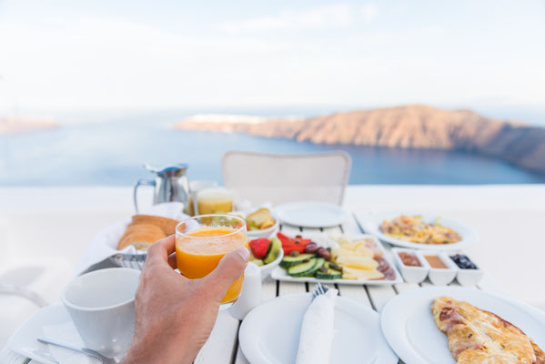 Breakfast in Santorini - Copyright Maridav - Santorini European Best Destinations