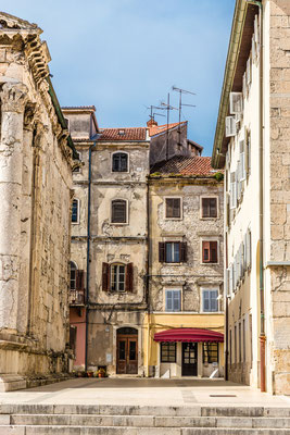 Old Vintage Buildings Near Forum Square - Pula, Istria, Croatia - Copyright ZM_Photo