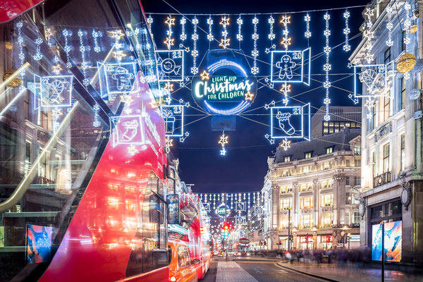 Christmas lights on Oxford street, London, UK - By Alexey Fedorenko