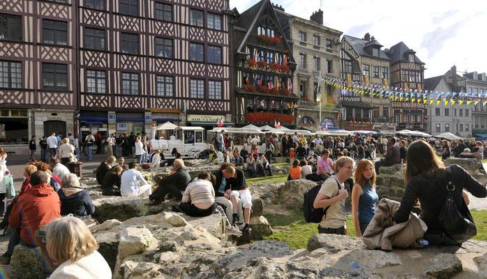 Vieux Marché square in Rouen, France - Copyright Rouen - Normandie Tourisme & Congrès