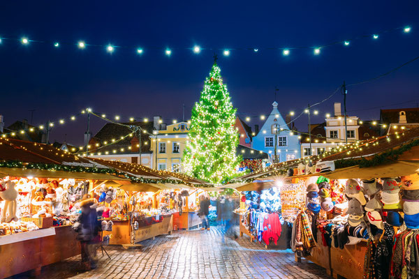 Traditional Christmas Market in Tallinn, Estonia - Raekoja Plats - By Grisha Bruev