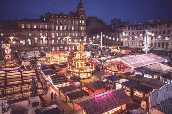 Best Christmas Markets in the UK  - Glasgow Christmas Market - Copyright Glasgow City Marketing Bureau