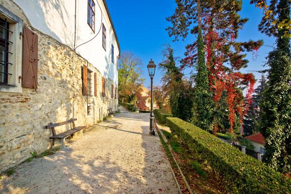 Zagreb upper town park walkway in autumn - Copyright xbrchx