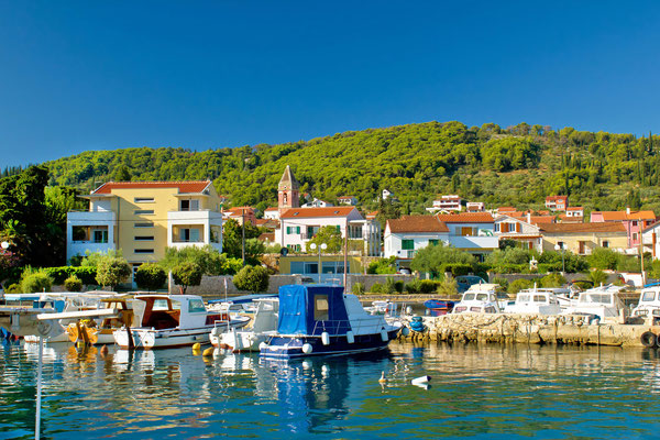Town of Preko waterfront on Ugljan island, Dalmatia, Croatia - Copyright xbrchx