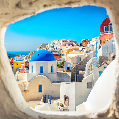 Santorini Blue dome church - Copyright marchello74- Santorini European Best Destinations