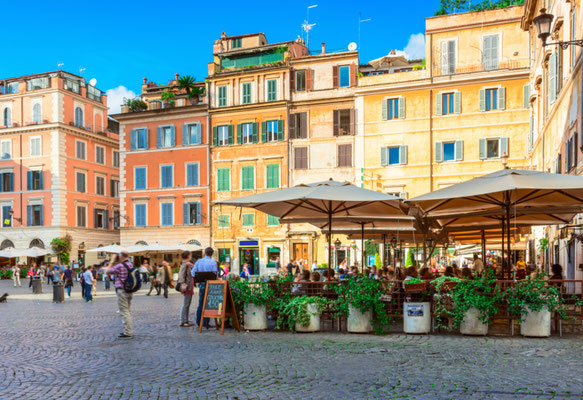 Rome Square Santa Maria copyright Editorial Shutterstock Catarina Belova