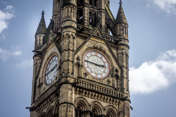 Manchester City Town Hall Clock Tower. Manchester, UK. Copyright jgolby