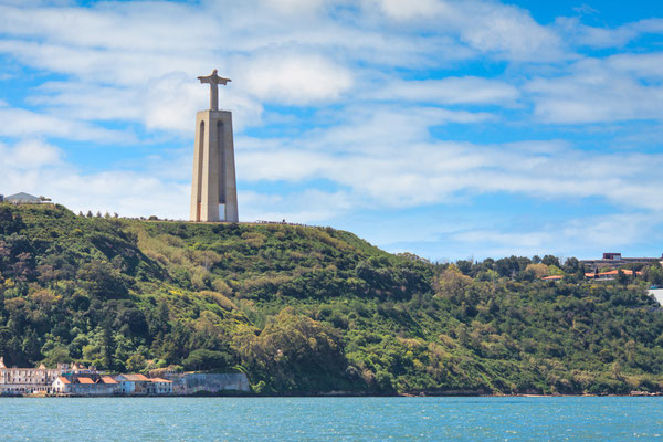 Cristo Rei or Christ the King. Lisbon. Portugal. View from the river. Copyright Ruslan Kerimov