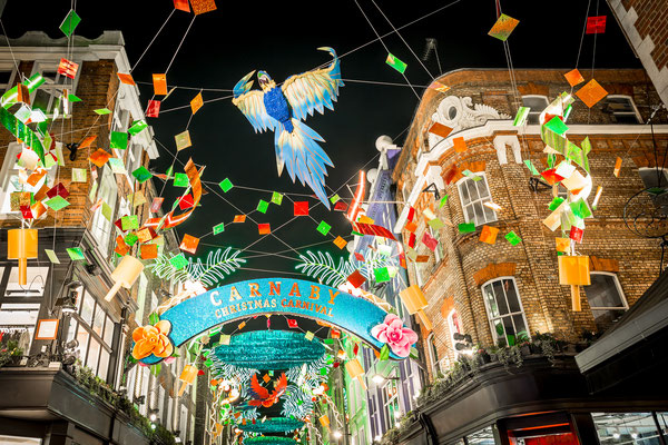 Christmas lights in Carnaby, London, UK - By Alexey Fedorenko