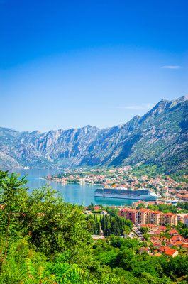 Panoramic view Kotor Bay copyright Olena Z