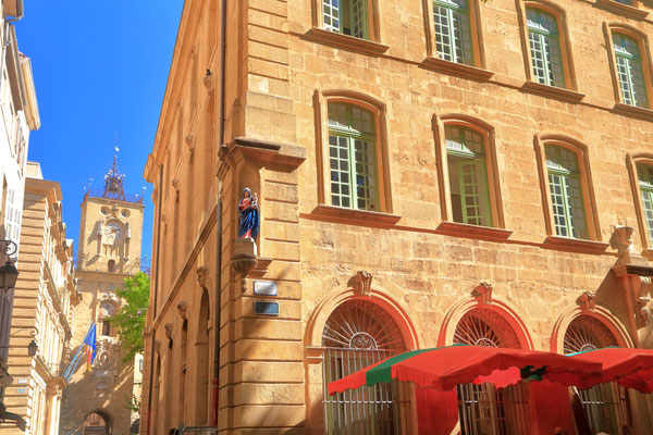 Traditional buildings in Aix-en-Provence, France - Copyright Inu