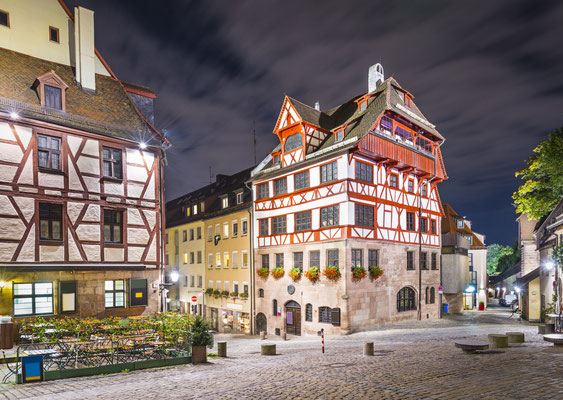 Nuremberg, Germany at Albrecht Durer house. Copyright Sean Pavone