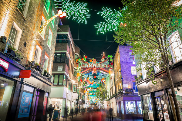 Christmas lights in Carnaby, London, UK - By Alexey Fedorenko