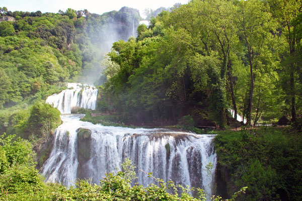View of Marmore's Falls (Umbria, Italy), one of highest waterfall of Europe (165m) Copyright MattiaATH