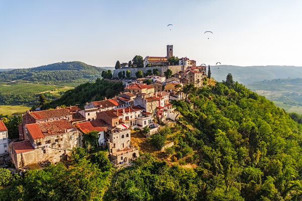 Motovun is a small village in central Istria (Istra), Croatia - Copyright OPIS Zagreb