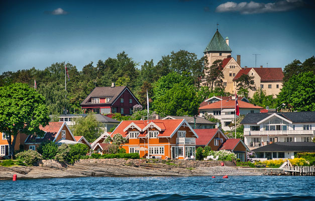 Oslo, Norway. Beautiful city architecture and colors in summer season. Copyright GagliardiImages