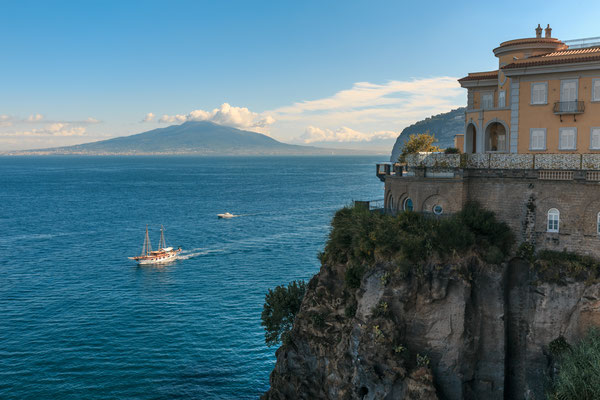 Sailboat and motor boats are sailing in the bay near Sorrento, Italy - Copyright Mark Sivak
