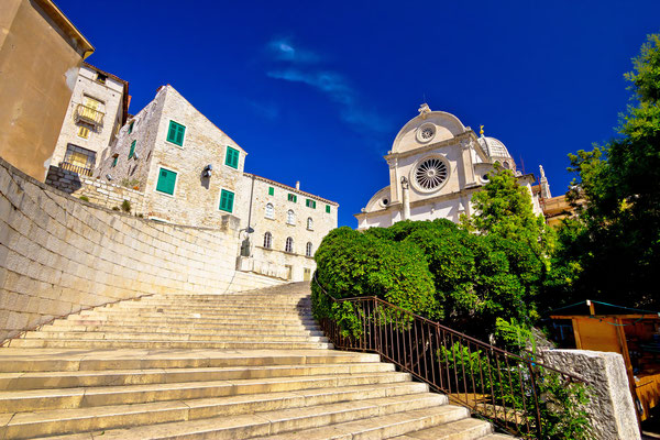 St James cathedral in Sibenik, UNESCO world heritage site in Croatia by xbrchx