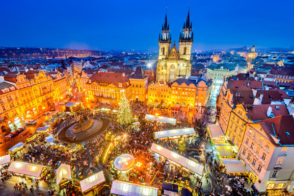 Christmas Market in Stare Mesto old square, Prague, Czech Republic - By cge2010