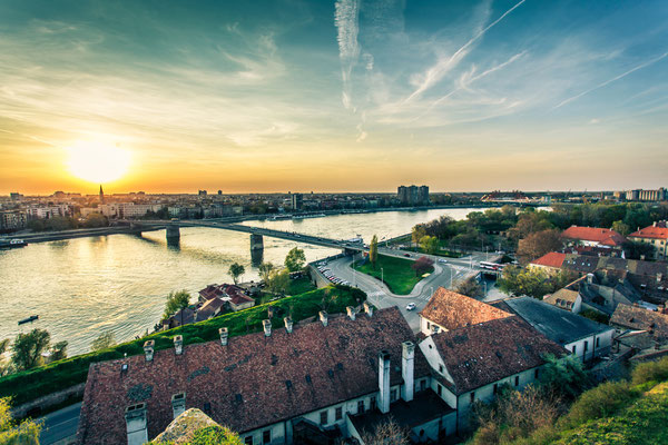Cityscape from of Novi Sad. Horizontal image. Copyright Slobodan Kunevski