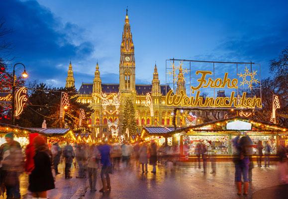 Christmas market in Vienna, Austria - By S.Borisov