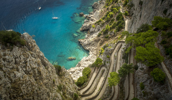 Capri - European Best Destinations - Via Krupp on Capri Island Copyright mikolajn