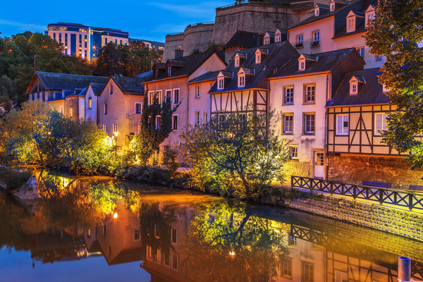 Cityscape of Luxembourg city in the evening, Luxembourg Copyright Marcin Krzyzak