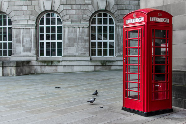 Red telephone booth in Manchester Copyright zulfahmighazali