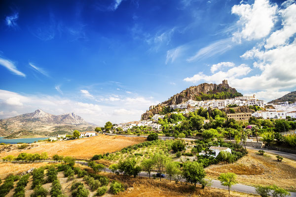 Zahara de la Sierra, beautiful town located in the Sierra de Grazalema, Cadiz (Andalusia), Spain. Copyright Marques