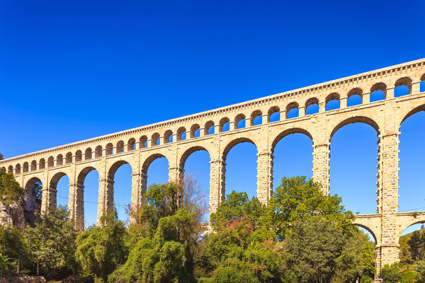 Roquefavour historic old aqueduct near Aix en Provence, France - Copyright StevanZZ