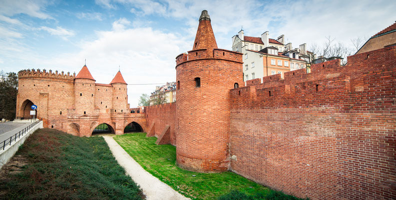 Barbican fortress in the historic center of Warsaw Copyright  In Green