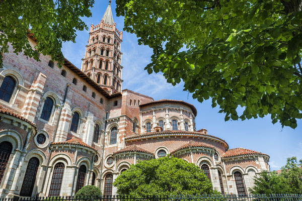 Basilica of St. Sernin is a landmark in Toulouse, France. Copyright Elena Elisseeva